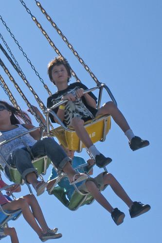 Pulguito on the swings @Santa Cruz