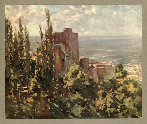 018- Las Torres Bermejas-An artista in Spain 1914- Michael Arthur C.