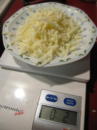 2 oz of cheese