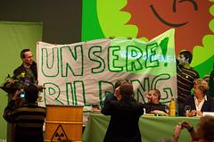 Bildungsprotest auf dem Parteitag