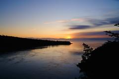 Sunset @ Deception Pass (sunjaec) Tags: bridge sunset water landscape washington deception pass wa d700