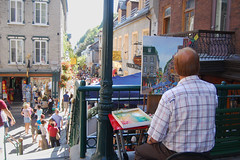Old Quebec Artist 2 (drocpsu) Tags: city urban canada quebec streetshots oldcity nikond40 drocpsu