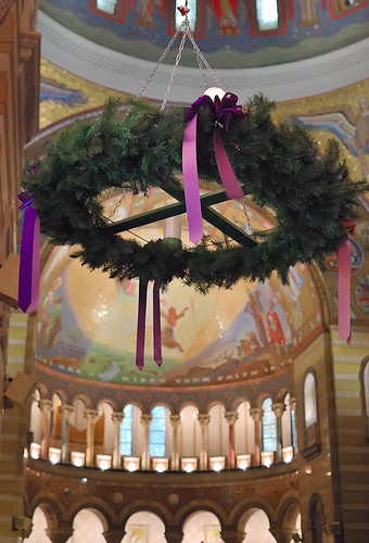 Cathedral Basilica of Saint Louis, in Saint Louis, Missouri, USA - Advent wreath