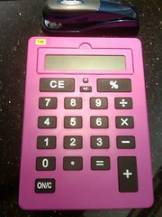 Big library calculator (mwphillips75) Tags: pink calculator