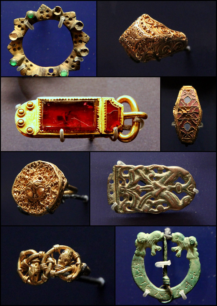 Anglo - Saxon jewellery, buckle, belt-end