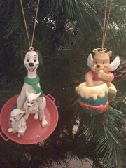 Dalmatians and Winnie the Pooh (Elysia in Wonderland) Tags: christmas tree angel scarf wings decoration halo disney pot 101 ornament honey pooh lucky winnie hunny pongo elysia dalmatians