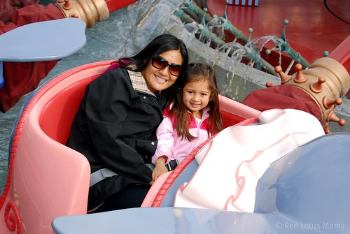 on the Dumbo ride