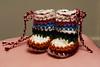 mini hippies (callie callie jump jump) Tags: baby vermont heart handmade crochet yarn pompom