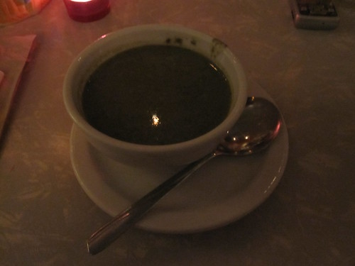 Spinach soup at Les Cabotins