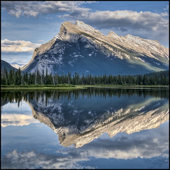 Vermillion Lakes Reflection (helikesto-rec) Tags: canada reflection alberta banff banffnationalpark mtrundle vermillionlakes