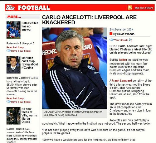 Headline Fail: The Star confuse Liverpool with Chelsea