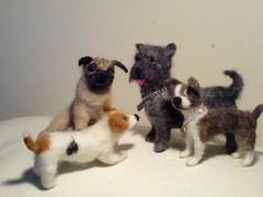 Needle felted dogs (Feltangel) Tags: dog wool felted felting hund needle cairnterrier ull fffriends frikken nltovad