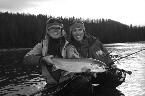Rogue Angel k8 and Rogue Angel Leah with a BC Steelhead