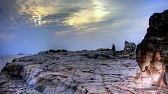 Alien Terrain (Lovell D'souza) Tags: sea terrain india rock canon eos evening alien goa hdr 1000d