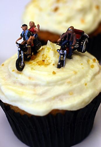 Hittin' the Road/Harvey Wallbanger Cupcakes