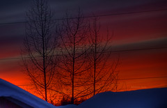 Glowing Red Sunset (Eric W_) Tags: sunset silhouette oranges reds hdr richcolors tiredoftypingtags