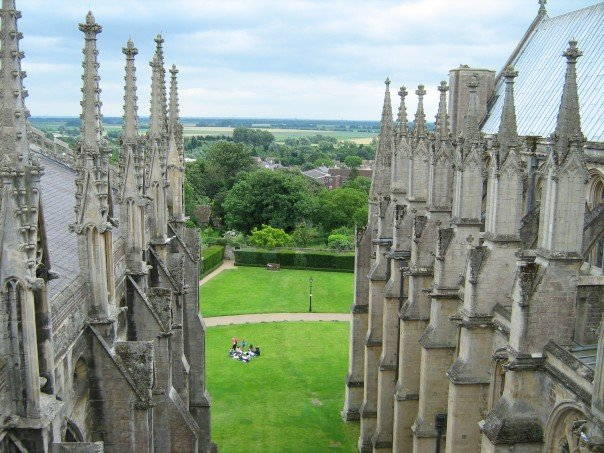 view from the top of Ely Cathedral