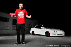 Josh Taylor's Integra (Jonathan_DeHate) Tags: red white money black beauty canon photography dish arm jonathan bare bees duty alien boom josh turbo taylor 5d heavy acura integra ls stands boosted hoods recaro 2470mm f28l ab800 sportmaxx dehate canibeatcom