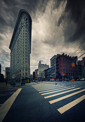 Stormy Flatiron (Philipp Klinger Photography) Tags: ocean park street new york city nyc trip travel windows light vacation sky people panorama woman usa holiday ny storm building window car architecture clouds facade america dark square us nikon iron pattern cross flat state geometry walk united north broadway dramatic line atlantic madison empire zebra states crosswalk avenue amerika 5th philipp dri flatiron hdr nord fuller fifth klinger nordamerika d700 platinumheartaward vertorama