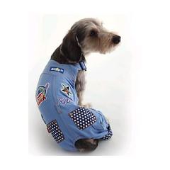 Stitch doggie overalls