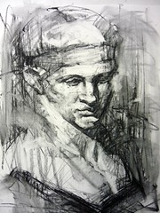Drawing (stathis_mavrides) Tags: drawing cast charcoal diadoumenos