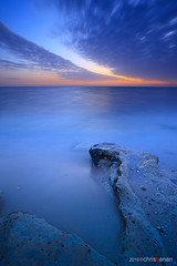 Direction (Chris Sanan) Tags: longexposure sunset sea seascape beach nature water canon scenic kuwait can