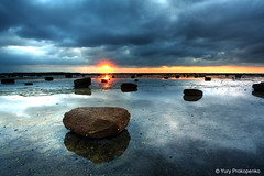 Long Reef Sunrise :: Sydney, Australia (-yury-) Tags: ocean sea sky sun seascape beach water clouds sunrise reflections landscape rocks sydney australia longreef supershot abigfave