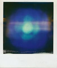 Ultraviolet Orb (ThePolaroidGuy [CensoredRestricted]) Tags: sanfrancisco blue film polaroid sx70 flow globe energy purple violet orb edward blacklight fractal drake ultraviolet nrg polaroidsx70 instantfilm blacklite energywaves edwarddrake edwarddrakemfa thepolaroidguy