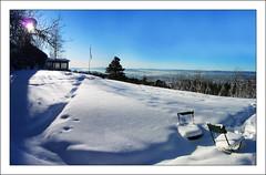 Seat with a View (paulmcdee) Tags: travel winter snow cold ice oslo norway skyline lumix view fresh lodge panasonic crisp scandinavia drifts 5photosaday dmctz5 5halloffame