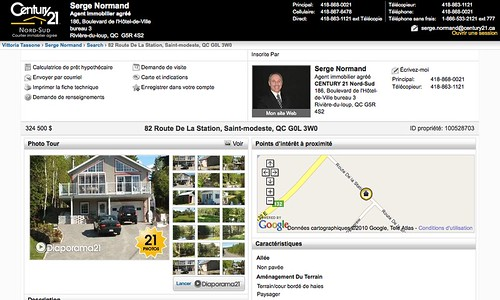 Century 21 Canada Listing in French