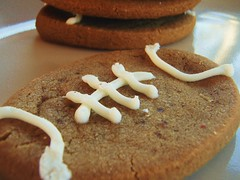 brown sugar cookies football shaped (super bowl) - 15