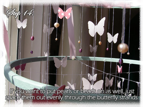 Step 14 (Tutorial- How to make a Chandelier Style Butterfly Mobile)