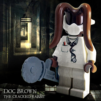 Doc Brown, the Cracked Rabbit custom minifig