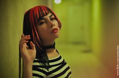 green (Sú! 禅) Tags: light portrait girl dark hair 50mm nikon room lips hallway su sunna d90