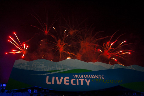 LiveCity Yaletown, feux d'artifice