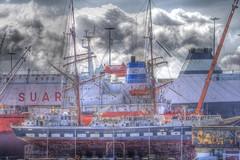 CANON EOS 1000D PHOTOMATIX _ TALL SHIP (simontingle74) Tags: blue red cloud green port canon wow eos rebel muelle kiss ship award gran prize mm xs 55 factor efs canaria 250 photomatix 1000d