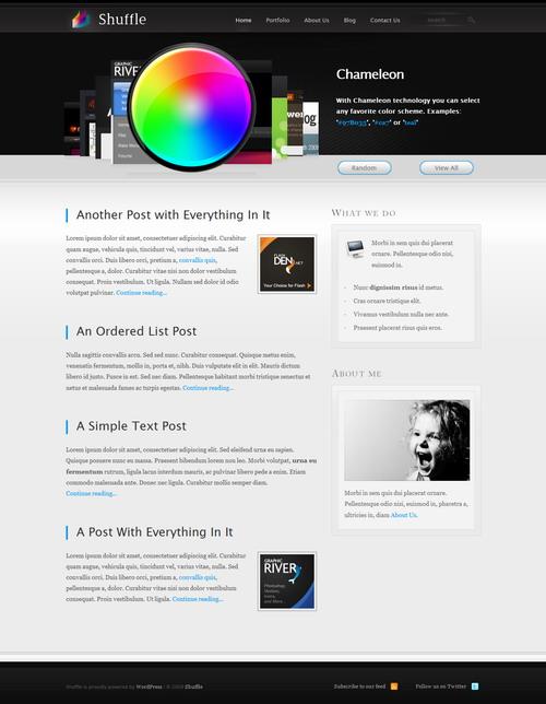 Shuffle | Portfolio + Blog – ThemeForest Premium WordPress Theme