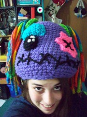 101_1117 (CrazyHatSociety) Tags: halloween rainbow purple cosplay handmade humor adorable hats creepy etsy geekery deadbaby neoncolors ravelry crazyhatsociety threadknits tauntonstitchandbitch