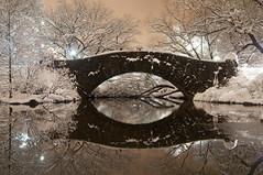 Gapstow Bridge (laverrue) Tags: nyc bridge skyline liberty pond centralpark manhattan gothamist statueofliberty gapstowbridge thepond