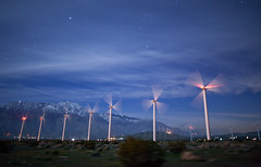 Palm Springs Dreams (Tom Lowe @ Timescapes) Tags: night stars wind palmsprings astro 24mm turbines windturbines timescapes 5d2