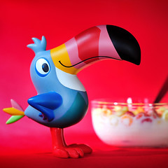 Toucan Sam (m4calliope) Tags: red food vintage catchycolors toy toys photography loops cereals kelloggs m4 calliope froot toyphotography d700 sb900 toyphotographer 365toyproject m4calliope
