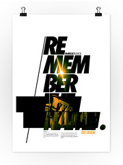 //Remember The Name (Emerge Studios) Tags: uk white black poster typography photography design brighton graphic studios emerge sony350 emergestudios
