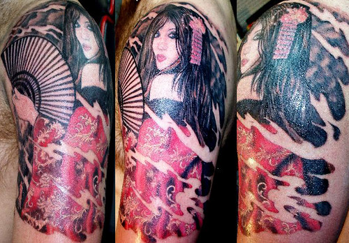 Geisha 3 4 Sleeve Tattoo LonnieGeisha3 4 Geisha 3 4 Sleeve Tattoo