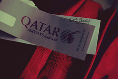 Again, Time 2 Travel..  (- M7D . S h R a T y) Tags: travel bag d again airways qatar redblack  timetotravel allrightsreserved