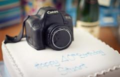 Let them eat cake (Stuart Stevenson) Tags: birthday camera holiday cake canon fun scotland break yum tagged celebration birthdaycake newcamera champers anotheryearolder 4things canon5dmkii stuartstevenson madeoutoficingandmarzipan thatsacake