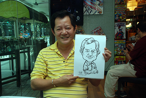 Caricature live sketching for M Hotel - 7