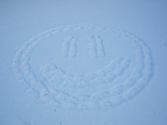 Smiley on the snow..