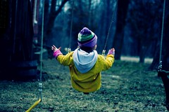 No hands. (alibubba) Tags: portrait youth child dusk christina young free swing swingset swinging goddaughter carefree fearless nohands crina joyfulsimplicities f64g18r1win