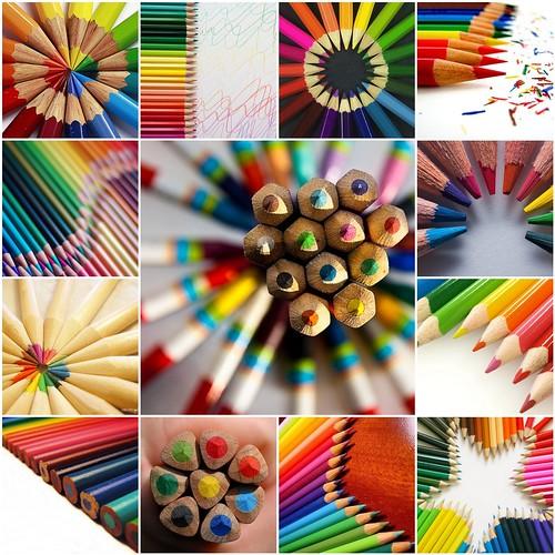 color pencil rainbow