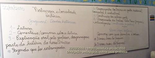 Jaguaré: Dados Historicos - Roteiro de estudo 22/03/2010
